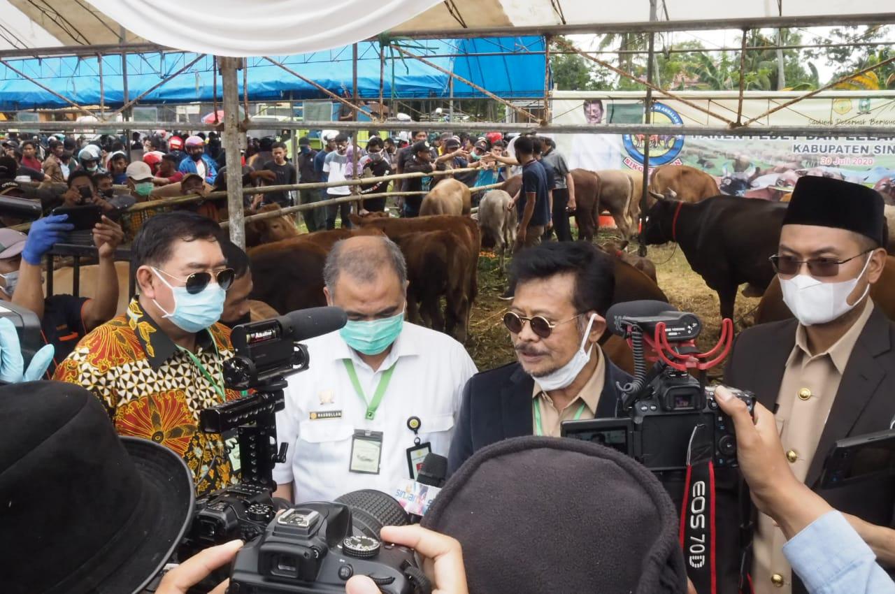 Abdul Hayat Dampingi Menteri Pertanian Panen 630 Sapi Hasil Inseminasi Buatan