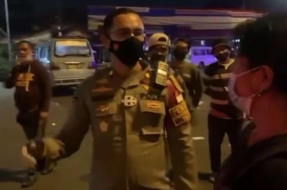 Aksi Terpuji Kompol Beddy saat Operasi Penegakan PPKM Darurat  Dipuji Banyak Kalangan
