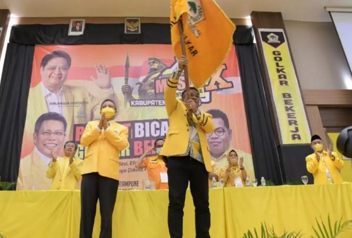 Andi Fahsar Padjalangi Kembali Terpilih Aklamasi Pimpin DPD II Golkar Bone