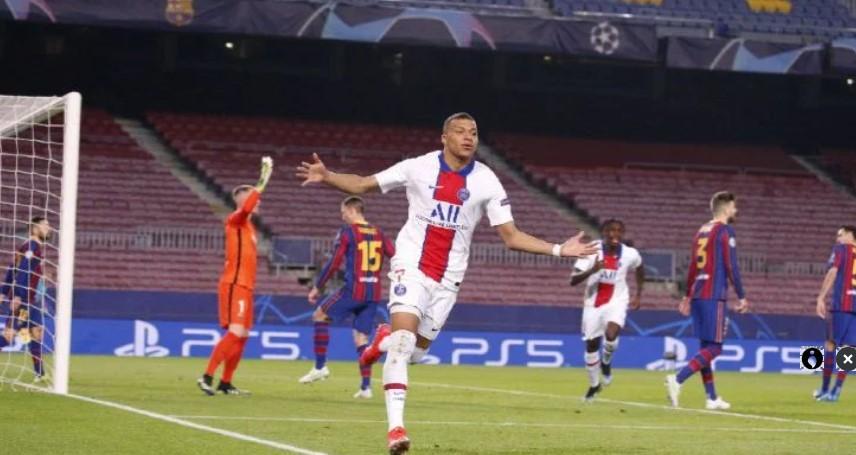 Barcelona Dihajar PSG 4-1 di Camp Nou, Mbappe Hattrick