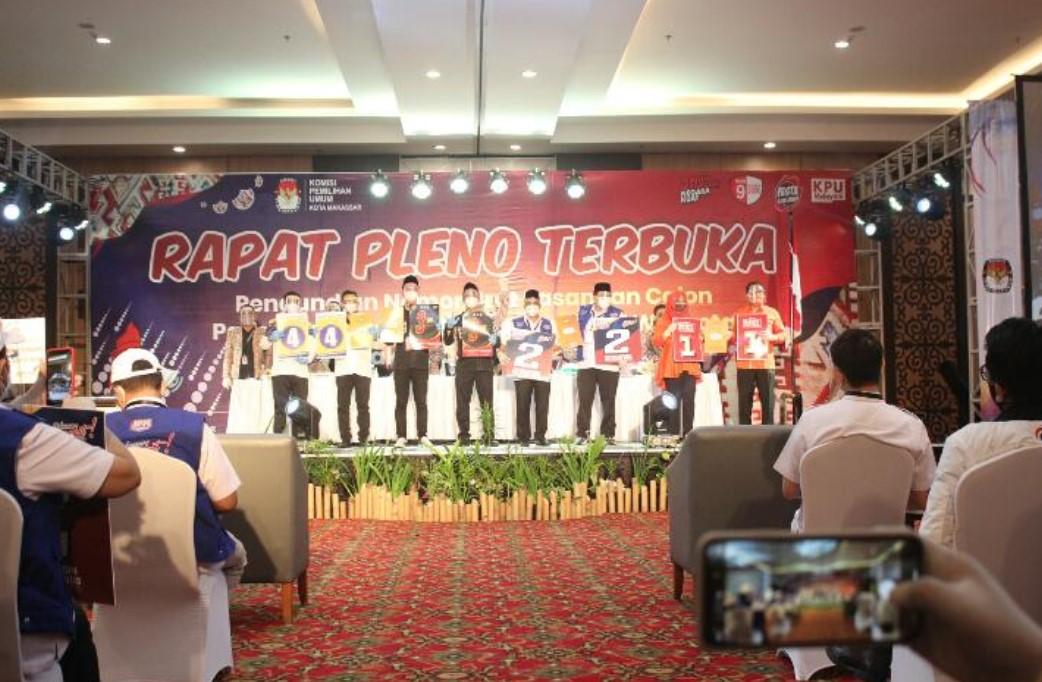 Begini Urutan Nomor Urut 4 Paslon di Pilwali Makassar 2020