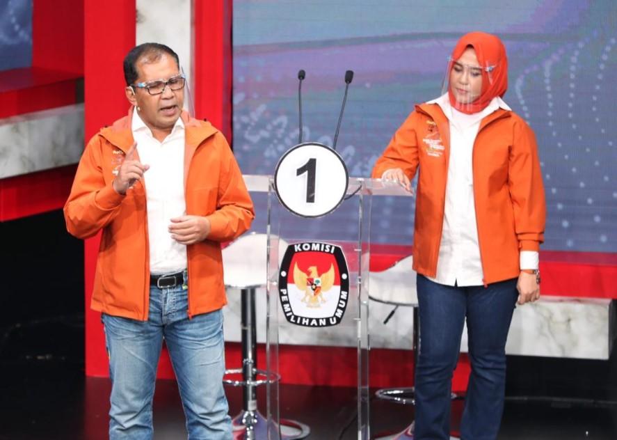 Danny-Fatma Akhiri Debat Kedua Pilwalkot Makassar dengan Pesan Menyejukkan