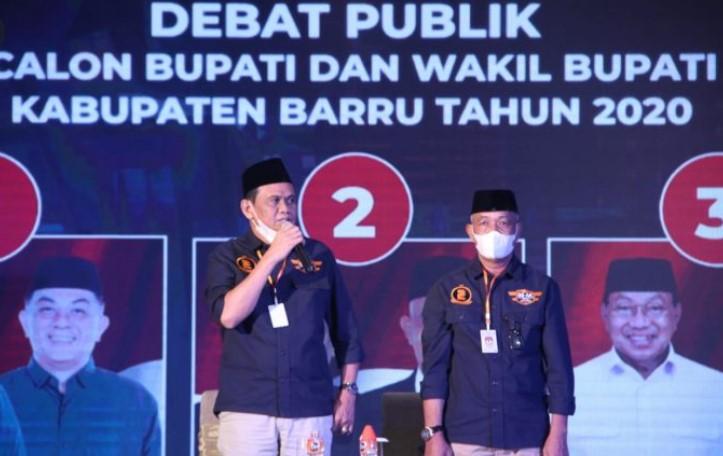 Debat Kedua Pilkada Barru Hanya Dihadiri SS-AK, KPU : Paslon Lain Dipastikan Dapat Sanksi