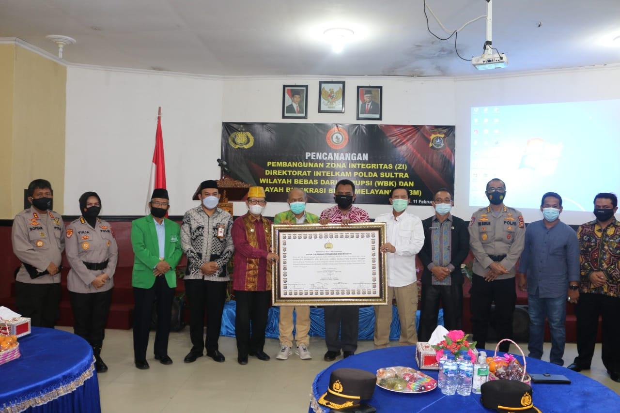 Deklarasi Pencanangan Zona Integritas Tandai Komitmen Polda Sultra Wujudkan WBK dan WBBM