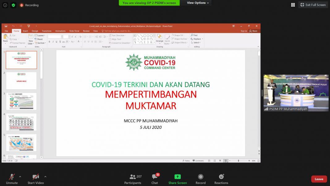 Desember Diperkirakan Belum Aman Covid-19, Muhammadiyah Kembali Tunda Muktamar