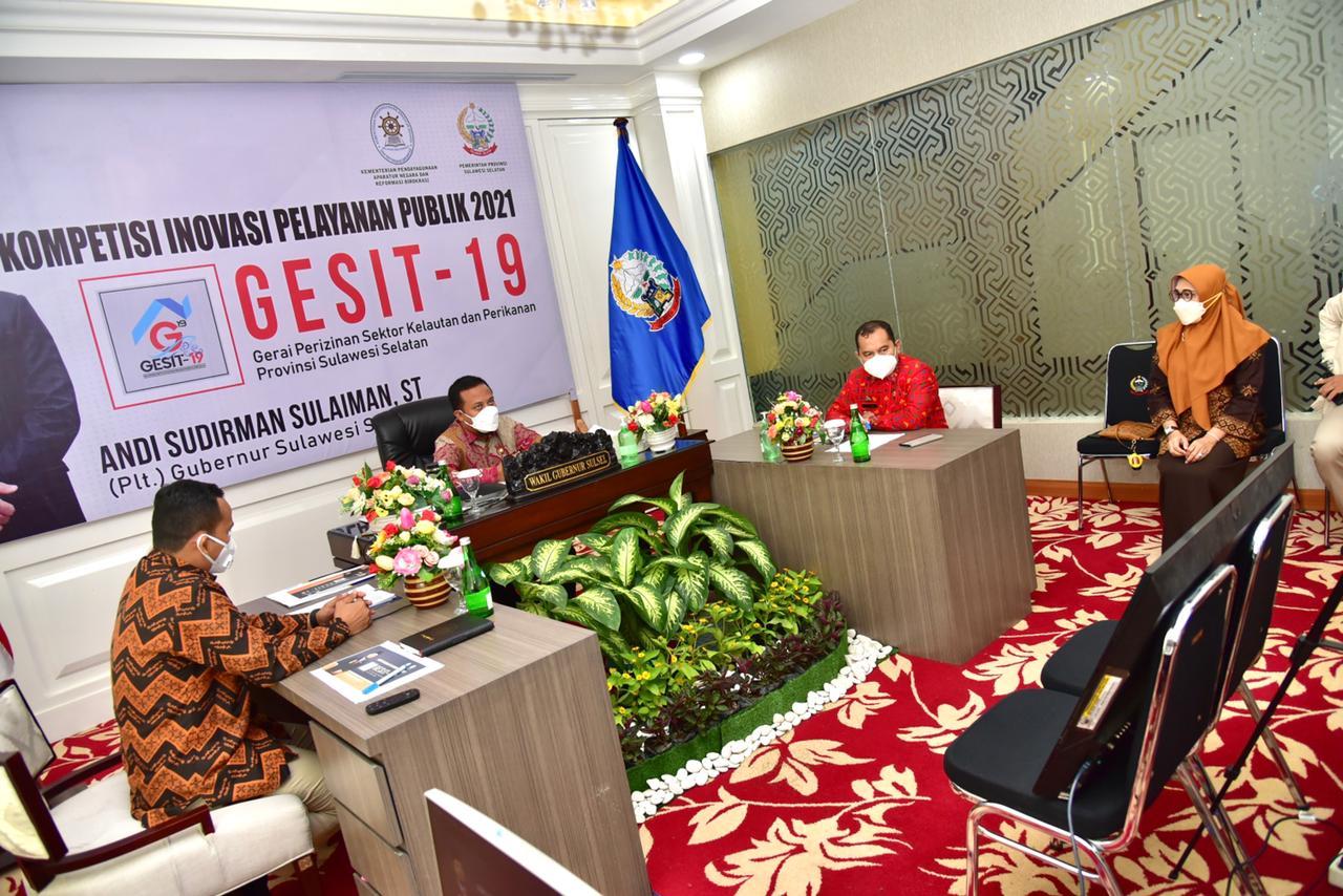Dipaparkan Plt Gubernur Sudirman Sulaiman, Tim Panel Independen KIPP 2021 Terkesima Gesit-19