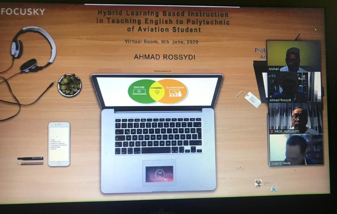 Dosen Politeknik Aviation Makassar Gagas Riset Hybrid Learning, Ujiannya via Virtual
