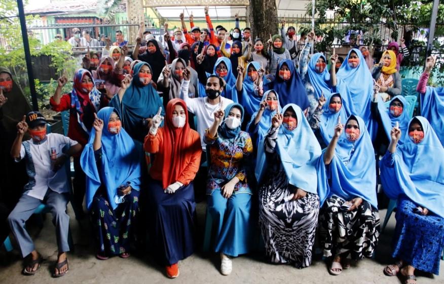 Dukung Danny-Fatma, Ini Aksi Nyata Majelis Taklim Ibu-ibu Kelurahan Rappojawa