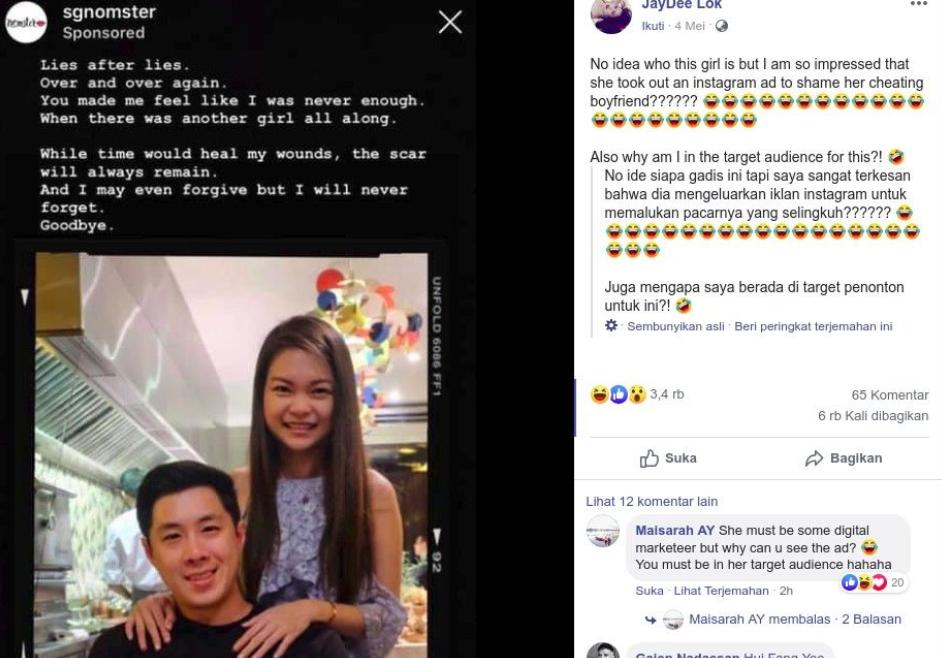 Emosi Dikhianati, Wanita ini Sebar Perselingkuhan Pacar via Iklan Instagram