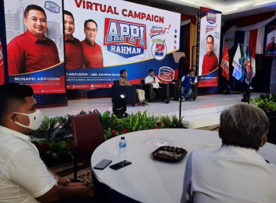 Gelar Kampanye Virtual, Appi-Rahman Kumpulkan 2.222 Orang