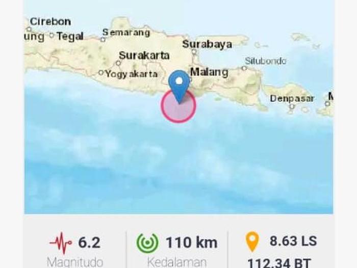 Gempa M 6.2 Guncang Blitar, 10 Wilayah Ini Alami Kerusakan
