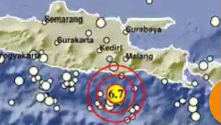 Gempa Magnitudo 6,7 Guncang Malang BMKG : Kekuatan Sedang Hingga Kuat