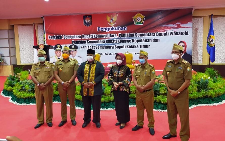 Gubernur Ali Mazi Lantik Empat Pjs Di Empat Kabupaten Penyelenggara Pilkada