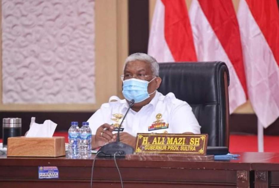 Gubernur Sultra Ikuti Rakor Pelaksanaan Omnibus Law, Bahas Detail Manfaat UU Cipta Kerja