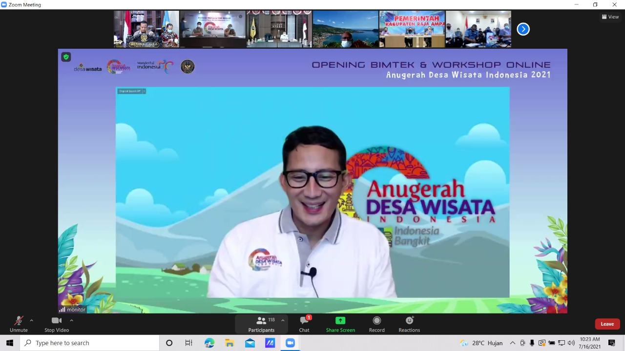 Hadiri Pembukaan Bimtek dan Workshop ADWI 2021, Plt Gubernur: Kami Usulkan 161 Desa