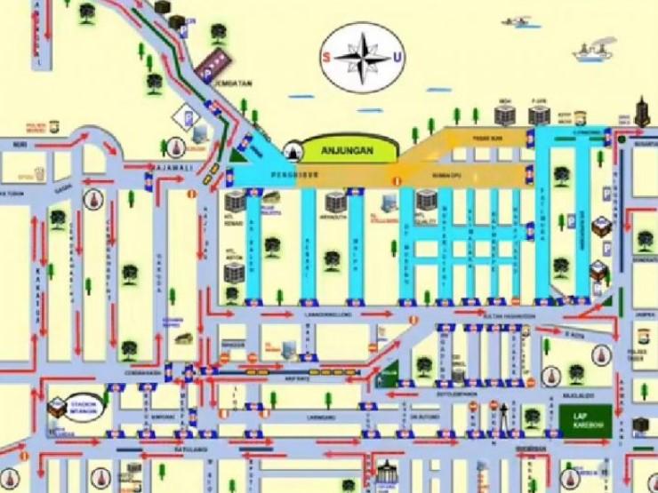 Jelang Malam Tahun Baru 2021, Sejumlah Jalan di Makassar Ditutup, Ini Daftarnya