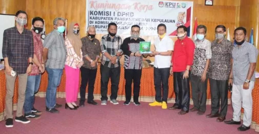 KPU Majene Terima Kunjungan Komisi I DPRD Pangkep