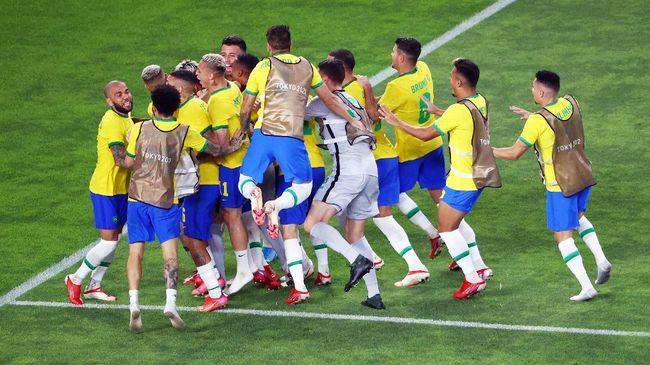 Kalahkan Spanyol dengan Skor Tipis, Brasil Pertahankan Tradisi Emas Olimpiade