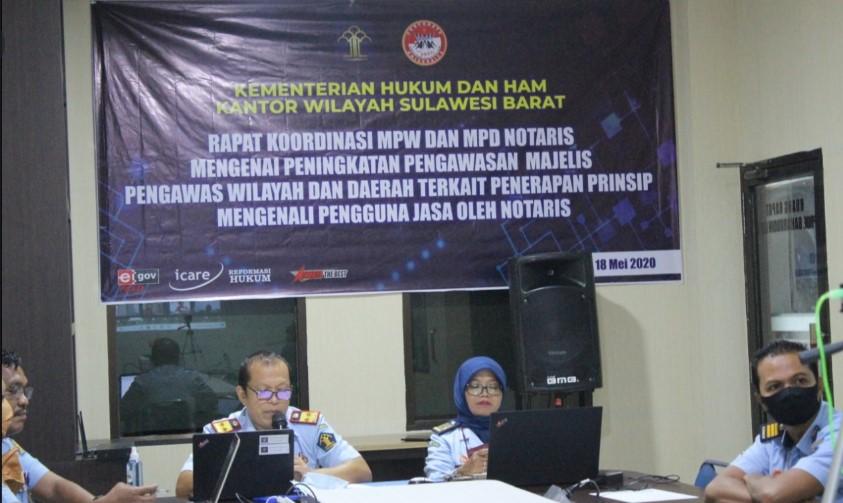 Kanwil KemenkumHAM Sulbar Melakukan Koordinasi Peningkatan Pengawasan Majelis Pengawas Wilayah dan Daerah