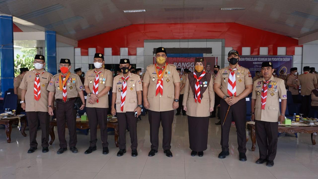 Komandan Kodim 1422/Maros  Hadiri Peringatan  HUT Pramuka Ke - 60 Dilaksanakan Pemkab Maros