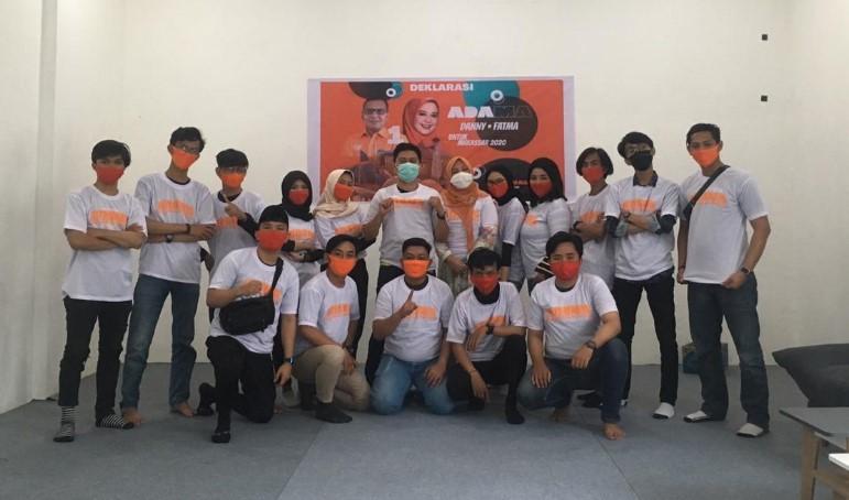 Komunitas Milenial Makassar Deklarasi Dukung Danny-Fatma