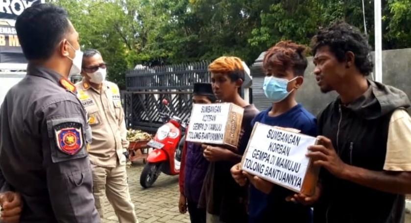 Kumpulkan Sumbangan Korban Gempa Sulbar, 4 Remaja Diamankan, Kok Bisa?