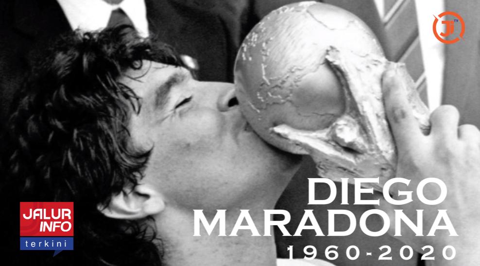 Legenda Sepak Bola Maradona Si Tangan Tuhan kini kembali ke Tuhan
