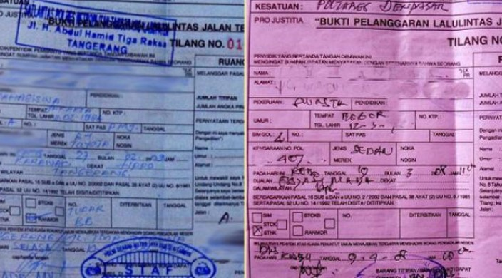 Mengenal Detail Surat Tilang Biru dan Merah