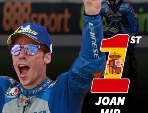 Morbidelli Raih Podium Puncak, Joan Mir Kunci Gelar Juara Moto GP 2020