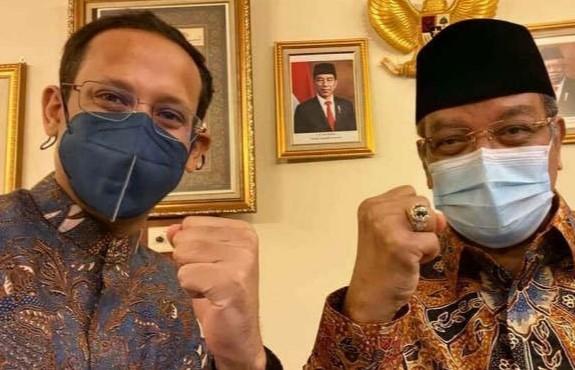Nadiem Temui PBNU Klarifikasi Soal Nama KH Hasyim Asy`ari