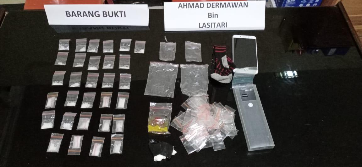 Nekat Edarkan 30 Paket  Sabu, Security OJK Sultra dicokok Polisi
