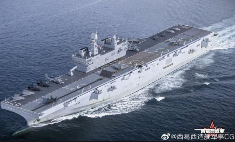 Ngeri! China Luncurkan Kapal Serbu Amfibi Raksasa, Segini Ukurannya