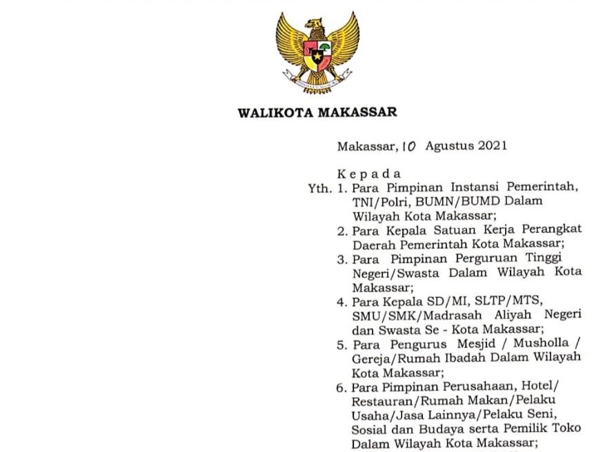 PPKM Level IV di Makassar Diperpanjang, Ada Kelonggaran untuk Aktivitas Ibadah dan Olahraga