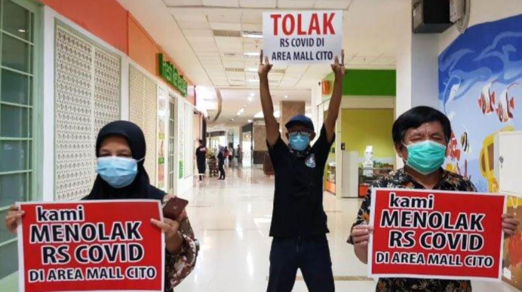 Pedagang Tolak Area Mall Cito Dijadikan RS Rujukan Covid-19