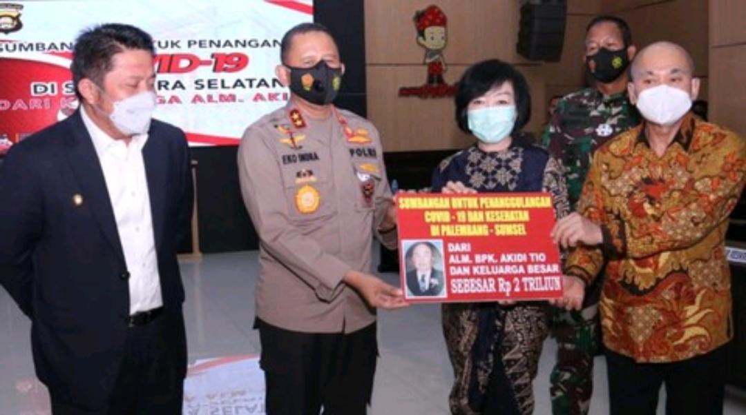 Pengusaha Tajir Asal Aceh Sumbang 2 Trilliun Rupiah untuk Penanganan Pandemi di Sumsel