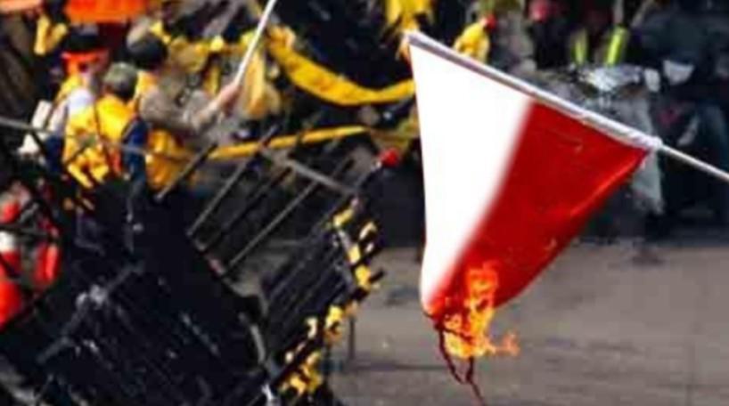 Perempuan Pembakar Bendera Merah Putih Ditangkap Polisi