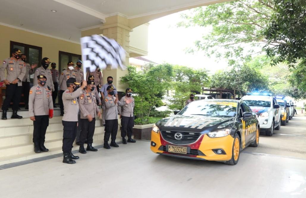 Polda Sultra Launching Tim Anoa Penegak Prokes Covid-19