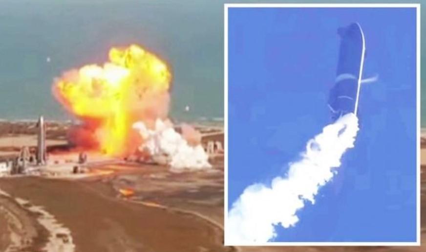 Prototipe Roket SpaceX Starship SN9 Jatuh dan Meledak saat Uji Coba