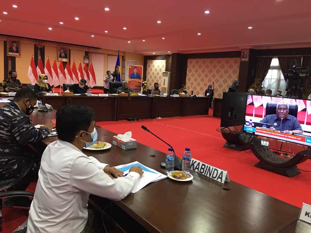 Rapat Koordinasi Pembentukan Tim Terpadu Sosialisasi UU Cipta Kerja Prov. Sultra tahun 2020