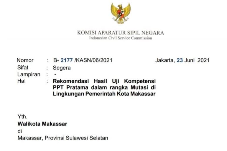 Rekomendasi KASN Terkait Hasil Job Fit Bocor, Beberapa Pejabat Eselon II Digeser ke Jabatan Baru