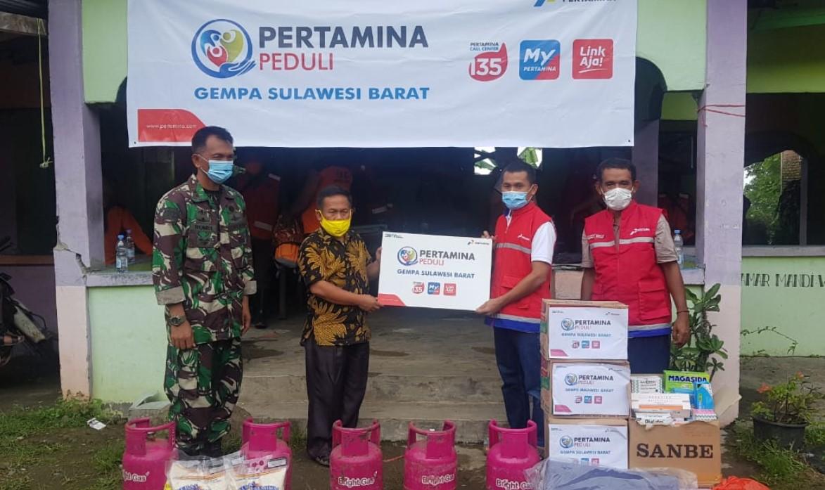 Respon Cepat PT Pertamina Berikan Bantuan Korban Gempa di Sulawesi Barat