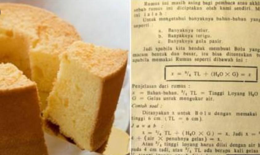 Rumus Matematika Juga Berlaku untuk Resep Kue Bolu Ini,  Berikut Penjelasannya
