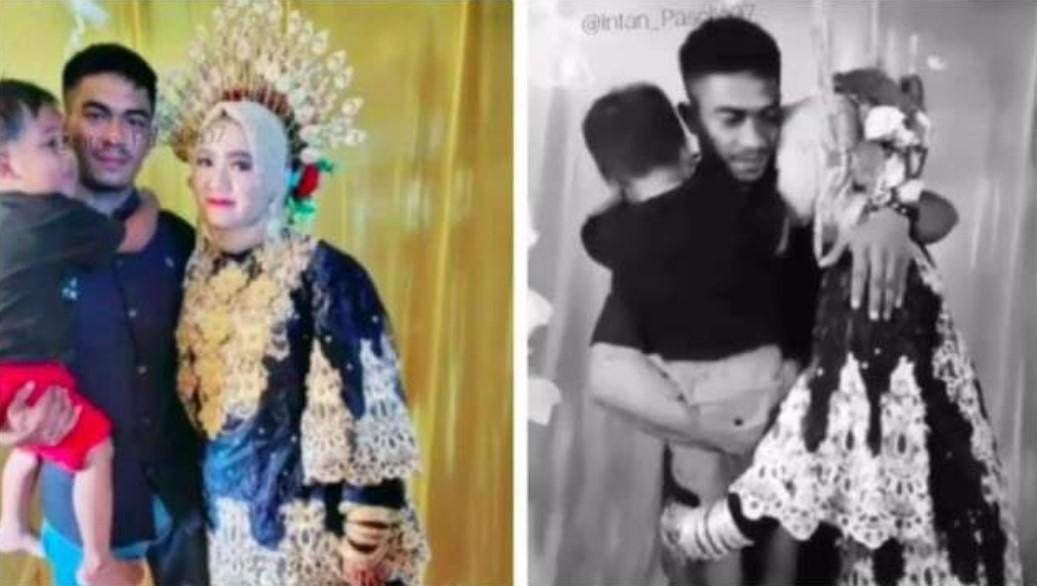 Sedih.., Pengantin Wanita Menangis Dipelukan Mantan Suami di hari Pernikahan