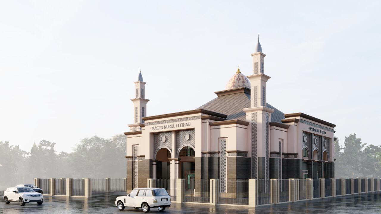 Segera, Masjid Nurul Ittihad Kalukuang Dengan Tampilan Baru Timur Tengah dan Eropa, RAB Rp5,8 Miliar
