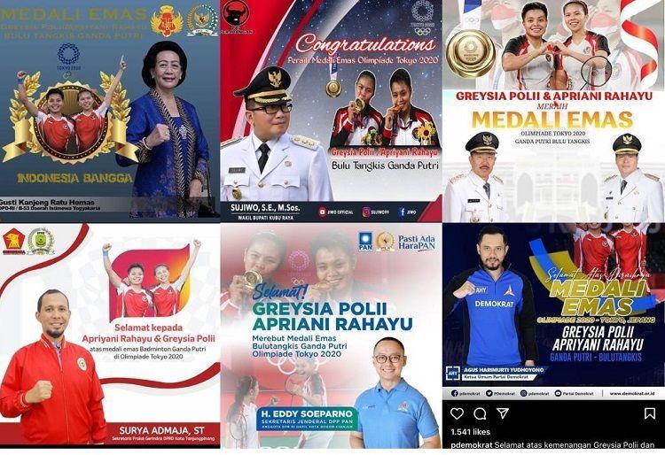 Sejumlah Pejabat Beri Ucapan Selamat Kepada Greysia/Apriyani, Netizen Bilang Begini