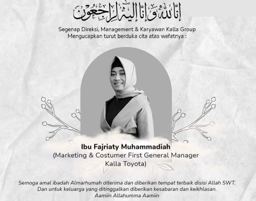 Sketsa-sketsa <div><br></div>IN MEMORIAM Ir. Haji Fajriaty Muhammadiah General Manajer First Toyota Kalla <br>Catatan : Syamsu Nur