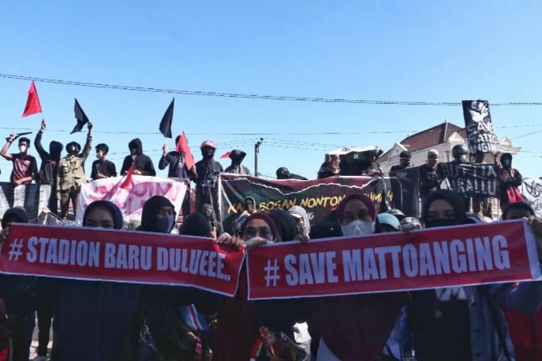 Suporter PSM Datangi DPRD, Minta Kejelasan Pembangunan Stadion Mattoanging