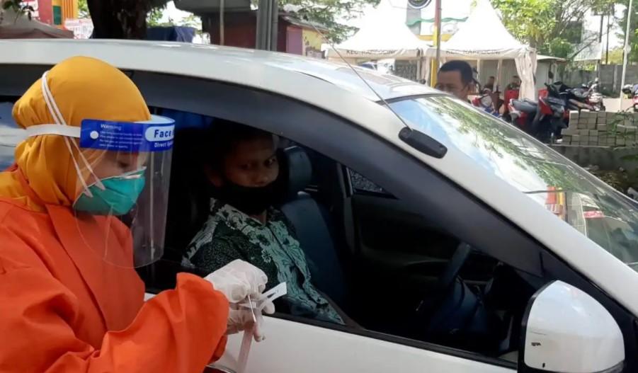 Swab on The Road di Makassar, 22 Pengendara Positif Covid-19