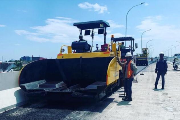 Tahap Finishing, Tol Layang Pettarani Pakai Aspal Pertamina