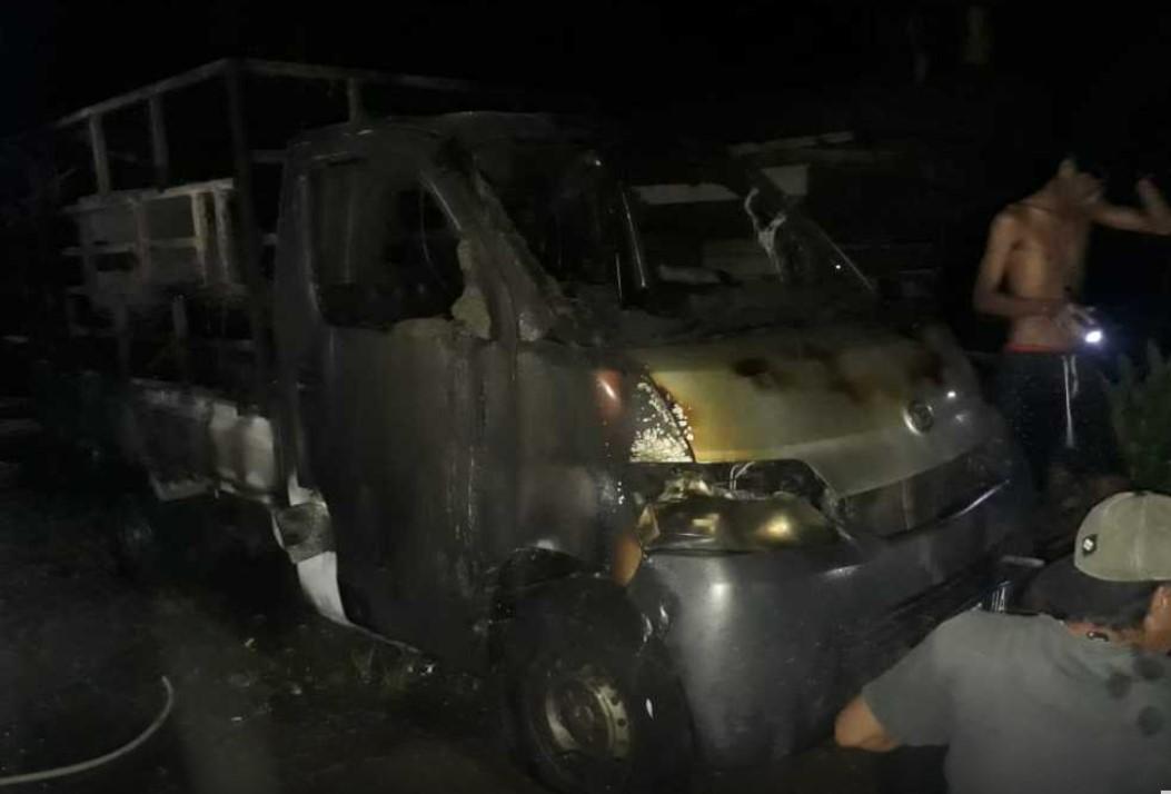Terduga Pelaku Pembakaran Mobil Relawan Cabup Indah-Suaib Diamankan Polisi